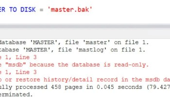 SQL SERVER - Backup Randomly Failing with Error 112 (There is not enough space on the disk.) msdb-err-3009-01
