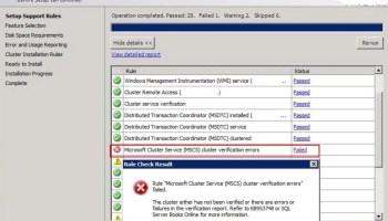 SQL SERVER - Install Error: Microsoft Cluster Service (MSCS) Cluster Verification Errors - Part 3 clus-facet-p1-01