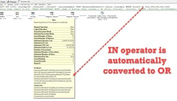 SQL SERVER - Performance Comparison - BETWEEN, IN and Operators inor2