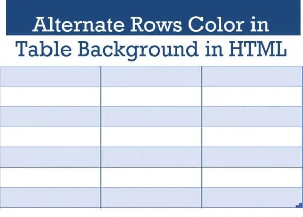 SQL SERVER - Alternate Rows Color in Table Background in ...