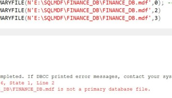 SQL SERVER - FIX : Error 945 Database cannot be opened due