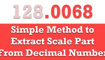 SQL SERVER - Different Methods to Extract Scale Part From Decimal