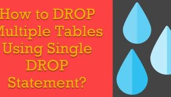 SQL SERVER - How to DELETE Multiple Table Together Via SQL Server Management Studio (SSMS)? drop