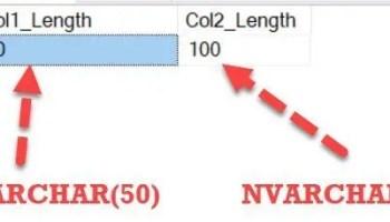 SQL SERVER - Datatype Storing Unicode Character Strings col_length