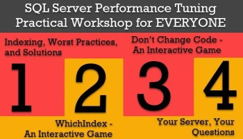 SQL Server Performance Tuning Practical Workshop - Discovery Phase - In Person Training 4reasons
