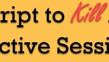 SQL SERVER - Cursor to Kill All Process in Database killall