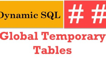 SQL SERVER - Table Variables, Temp Tables and Parallel Queries Global-Temporary-Tables