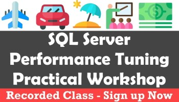 SQL Server Performance Tuning Practical Workshop - Discovery Phase - In Person Training performancetuning