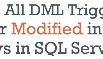 SQL SERVER -  Types of Triggers trigger