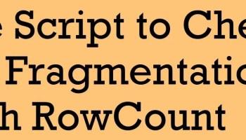 SQL SERVER - 2005 - Find Index Fragmentation Details - Slow Index Performance fragementation