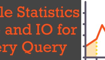 SQL SERVER - Wait Statistics from Query Execution Plan statistics-time