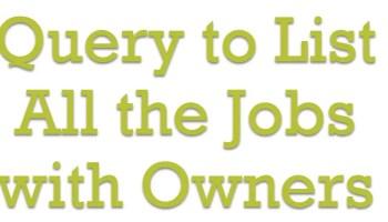 SQL SERVER - Running SQL Agent Job After Completing Another Job jobs
