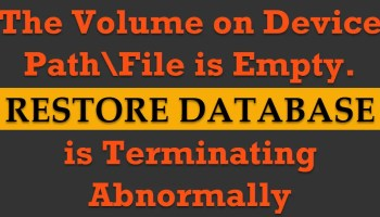 SQL SERVER - Fix Error - Cannot use the backup file because it was originally formatted with sector size 4096 and is now on a device with sector size 512 terminating-abnormally