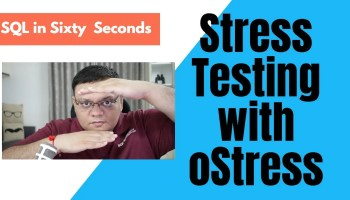 SQL SERVER - Performance Test - oStress vs SSMS 87-oStressCover