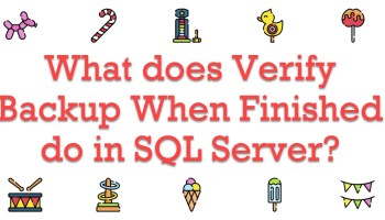 SQL SERVER - Restore Database With Just Log File VerifyBackup