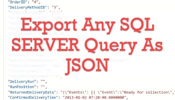 SQL SERVER - Getting Started with Azure Data Studio queryJSON