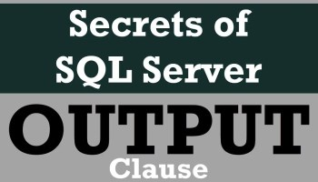 SQL SERVER - A Quick Look at Logging and Ideas around Logging outputclause