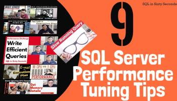 Video Resources for 9 SQL SERVER Performance Tuning Tips 168-10Q-YT