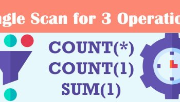 One Scan for 3 Count Sum - SQL in Sixty Seconds #178 singlescancover