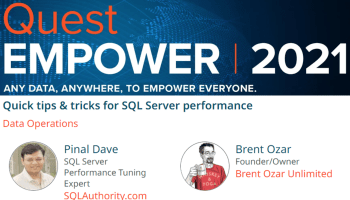 SQL SERVER - The Monthly Mentor Returns 2021 QuestEMPOWER