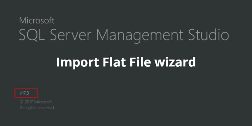 Import Flat File - header