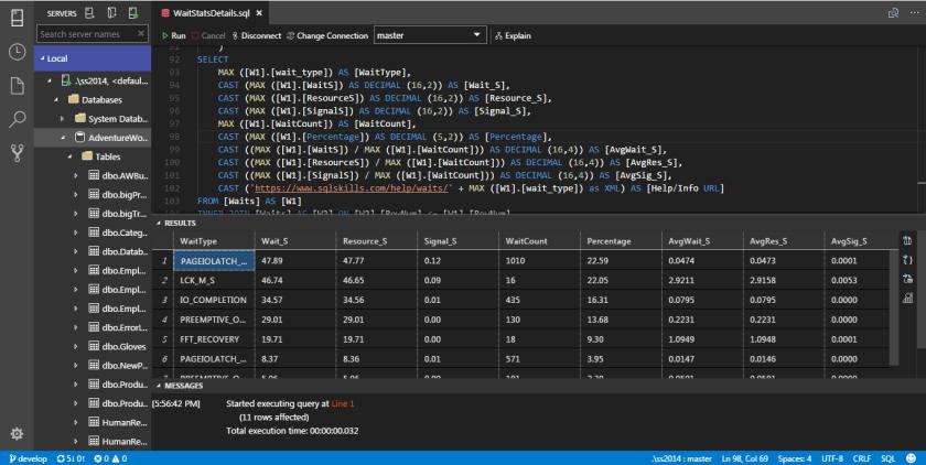 SQL Operations Studio - Widget 09
