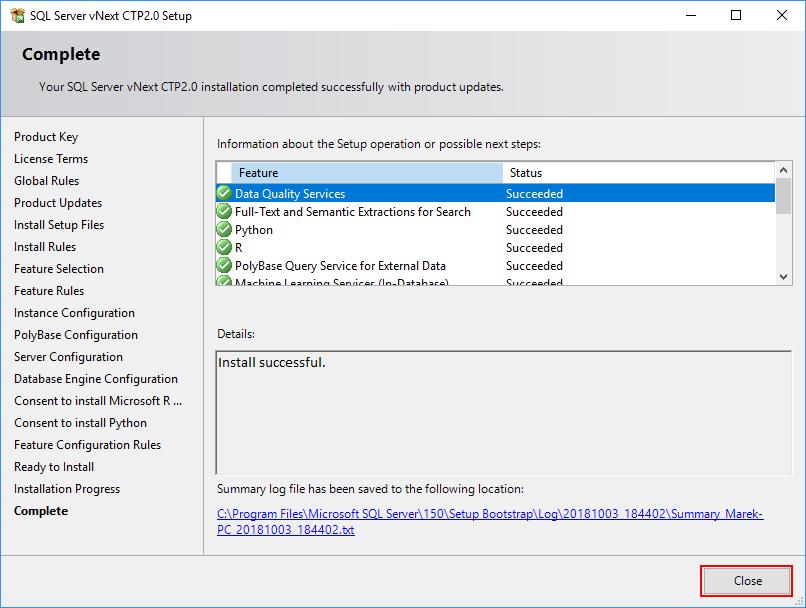 SQL Server 2019 Setup - Computer restart required