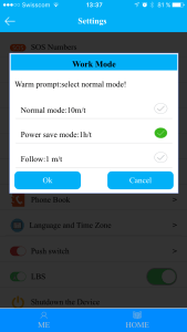 GPS update modes