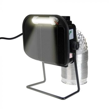 An Aoyue fume extractor for removing soldering smoke.