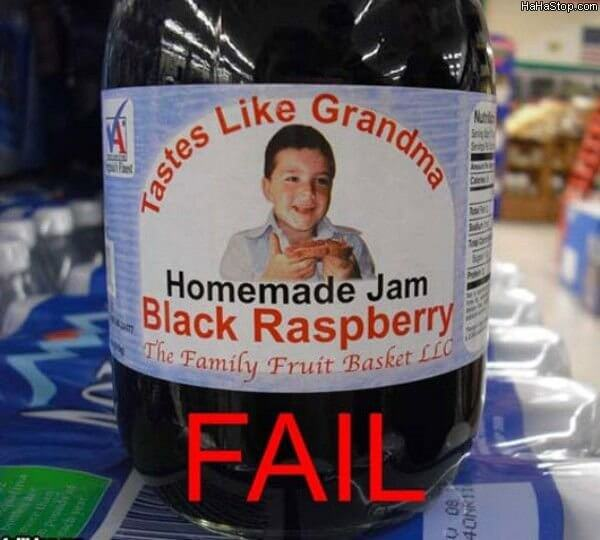 homemade jam packaging