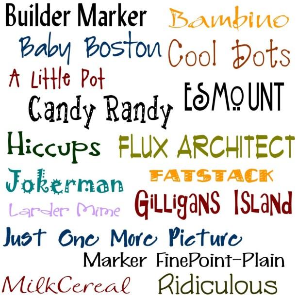 doodle font4