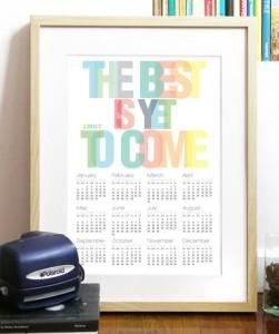 Calendar_2013_Typography_Art_Poster