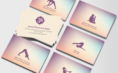 Yoga Trainer Business Cards