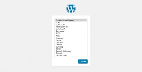 pilih bahasa wordpress