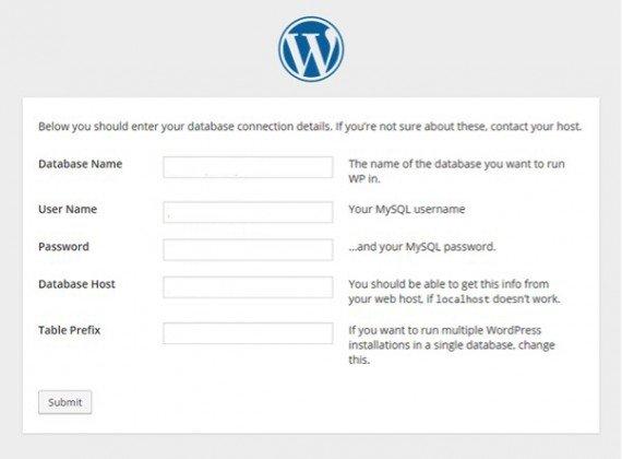 before install wordpress