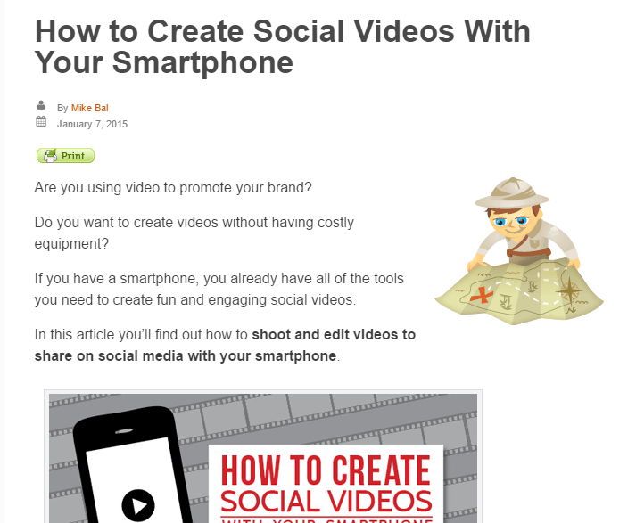 video post example