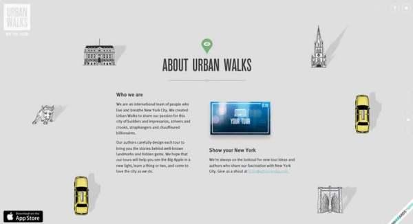 website dengan parallax