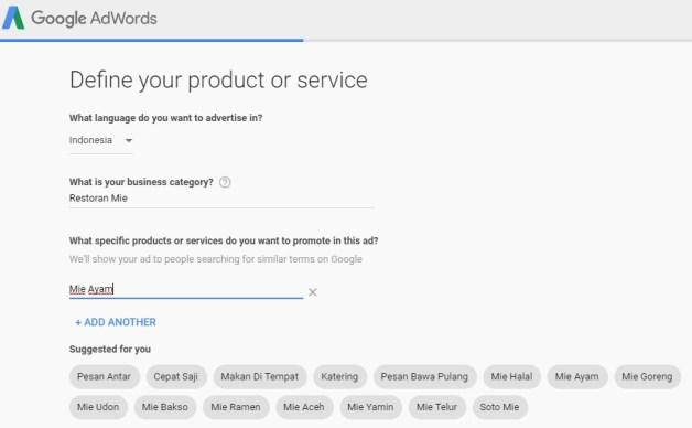 Pilih Kategori Google Ads