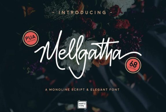 download font gratis keren mellgatha