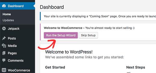 setup wizard woocommerce pada cara membuat website toko onine di wordpress