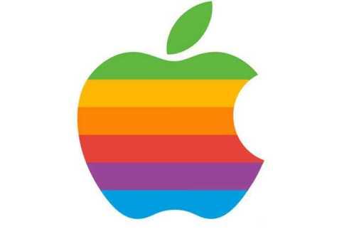 logo apple tahun 1976 berwarna
