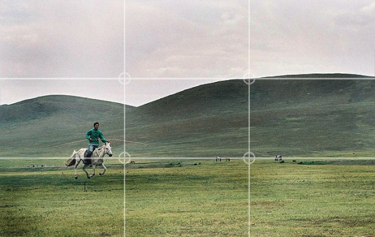 prinsip fotografi rule of third pada subjek bergerak