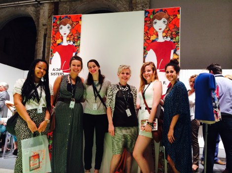 Professor Karen Videtic with VCU Fashion Students at Modaprima, Florence