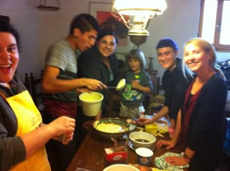 Marta taught us how to make Tiramisu!