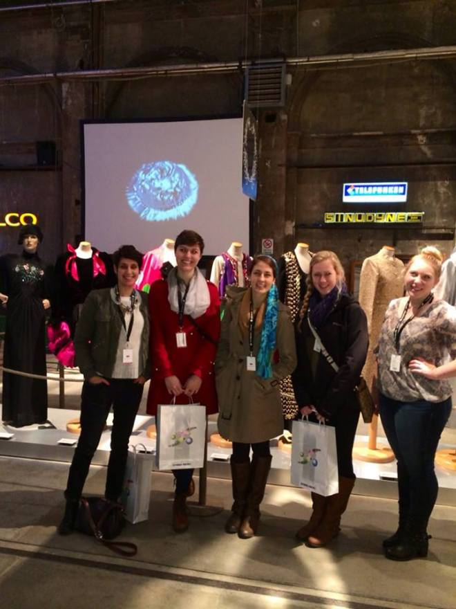 Enrica takes students to  a fashion fair in Florence