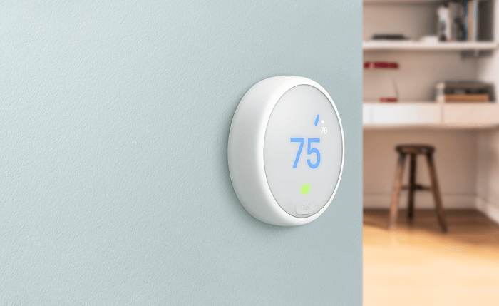 Photo of Nest thermostat on a wall
