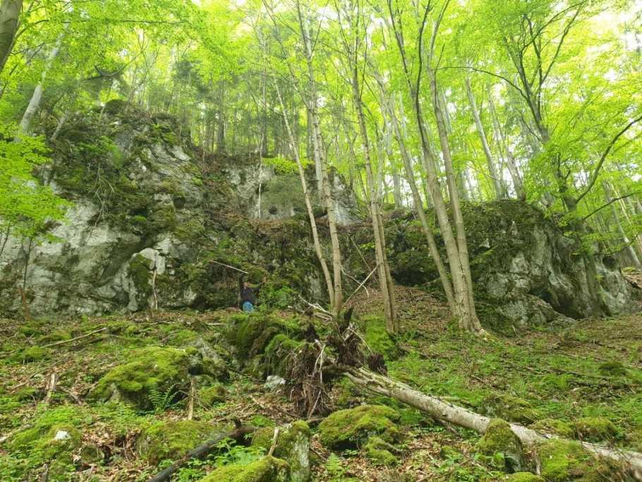 , OS Ružomberok > prieskum jaskýň pod Červeným grúňom na Liptove