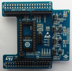 The X-NUCLEO-IKS01A1 expansion board (Click to Enlarge)