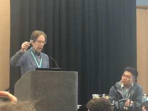 Professor Kaiser raising a SensorTile