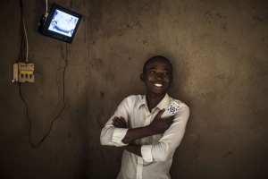 A MeshPower board powering a customer's TV